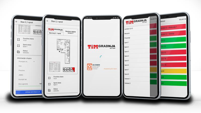 Aplikacija za prodaju stanova mobilna aplikacija ED-Vision